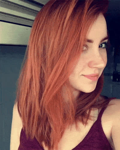 sfwredheads, A smiling redhead GIFs