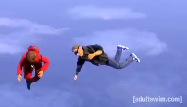 Watch and share Robot Chicken GIFs and Skydiving GIFs on Gfycat