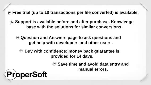 Bank2QIF (QFX/OFX/QBO/QIF to QIF Converter) by ProperSoft GIF by