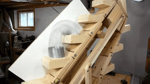 craftsmanship, engineering, slinky escalator, woodworking, How it was made: https://youtu.be/5UP_njBPpZ4 GIFs