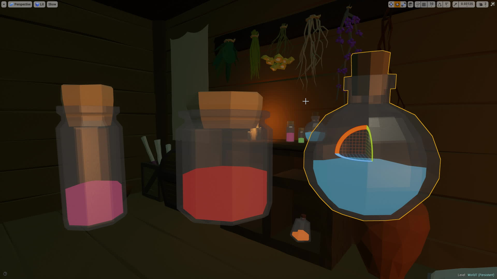 UE 4 Simple Fluid In A Bottle Shader
