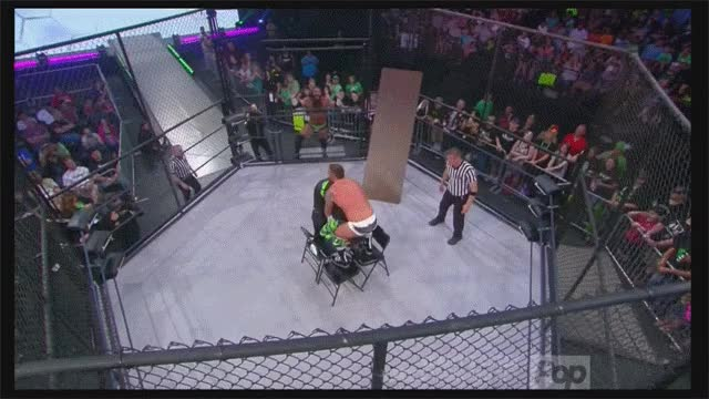 Eric Young Piledriver to Jeff Hardy while on 4 steel chairs