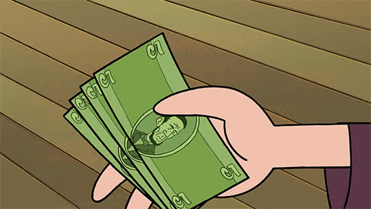 City Dwellers, bills, cartoon hangove, cash, money, rich, Action SpreadingBills GIFs