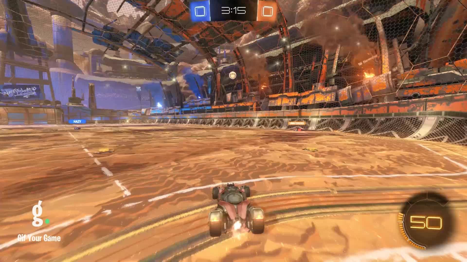 Gif Your Game, GifYourGame, Goal, Nethermorph, Rocket League, RocketLeague, 1v1 SkIlL dOeSn'T mAtTeR iN 3v3 GIFs