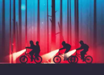 Watch this bicycle GIF by GIF Queen (@ioanna) on Gfycat. Discover more 80s, bicycle, bike, biking, boys, coming, eleven, gang, retro, riding, stranger, stranger things, things, transportation GIFs on Gfycat