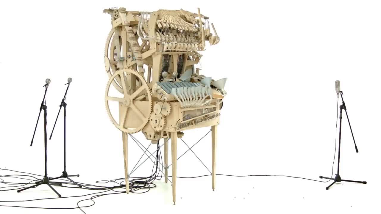 Hannes, diy, marble, martin, woodworking, Wintergatan - Marble Machine (music instrument using 2000 marbles) GIFs