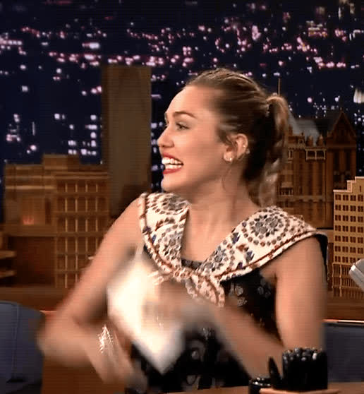 awesome, ecstatic, excited, happy, miley cyrus, tonight show, yes, Miley Cyrus Excited GIFs