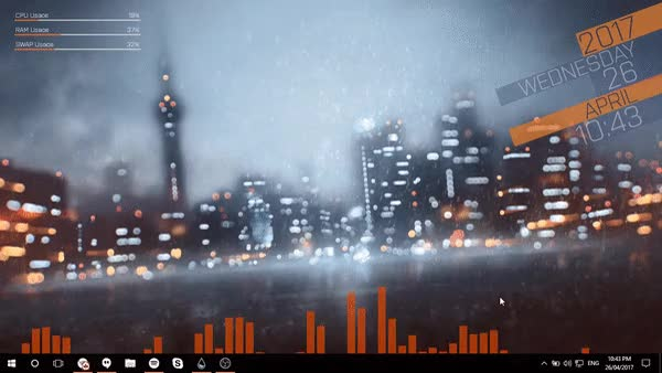 Watch and share Rainmeter GIFs and Desktop GIFs by enlighter66 on Gfycat