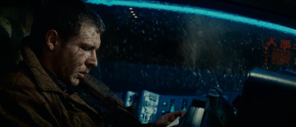 blade runner, cinemagraph, harrison ford, Blade Runner Car GIFs