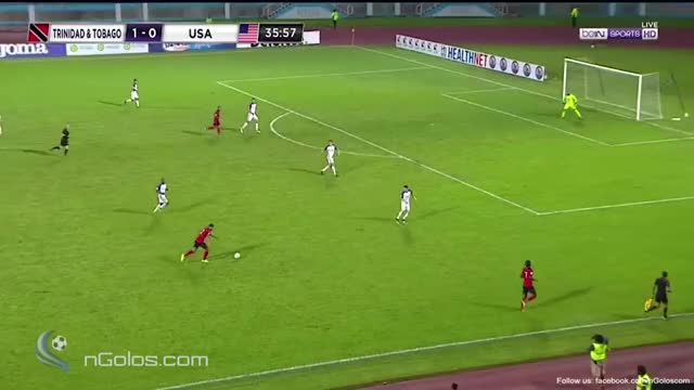 Watch and share (www.nGolos.com) Trinidad & Tobago 2-0 USA - Jones 36' (WC 2018 - Qualifi.) GIFs on Gfycat