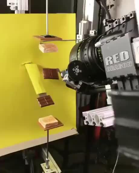 Hersheys commercial being filmed