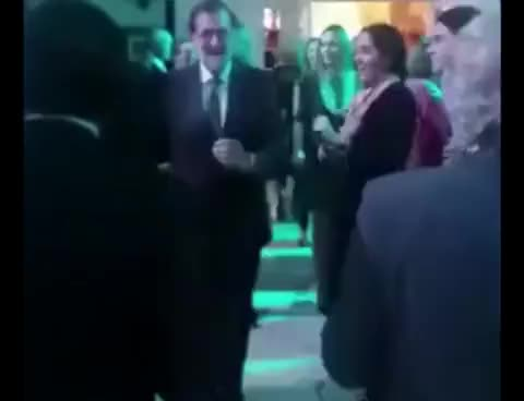 "Watch Mariano Rajoy de fiesta bailando ""Mi Gran Noche"" de Raphael GIF on Gfycat. Discover more related GIFs on Gfycat"