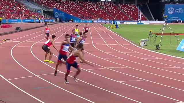 Watch and share Athletics  Men's 4x400m Relay  Final (Day 6) | 28th SEA Games Singapore 2015 GIFs on Gfycat