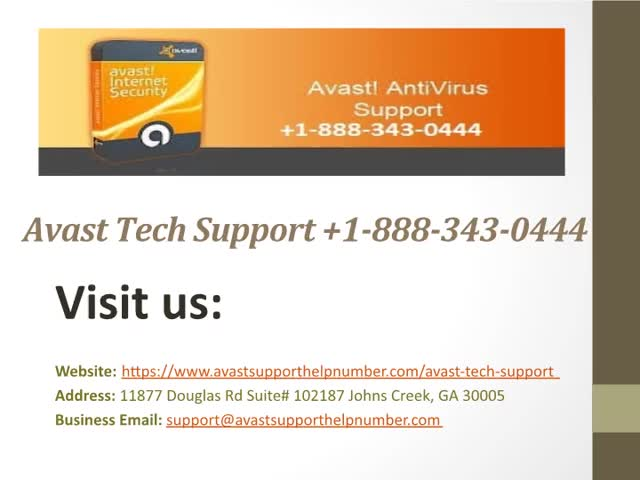 Avast Tech Support Number +1-888-343-0444 USA Customer Support