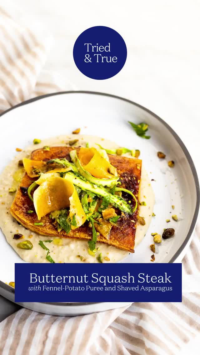 Watch and share Butternut Squash Steak With Potato-Fennel Puree GIFs by triedandtruerecipes on Gfycat