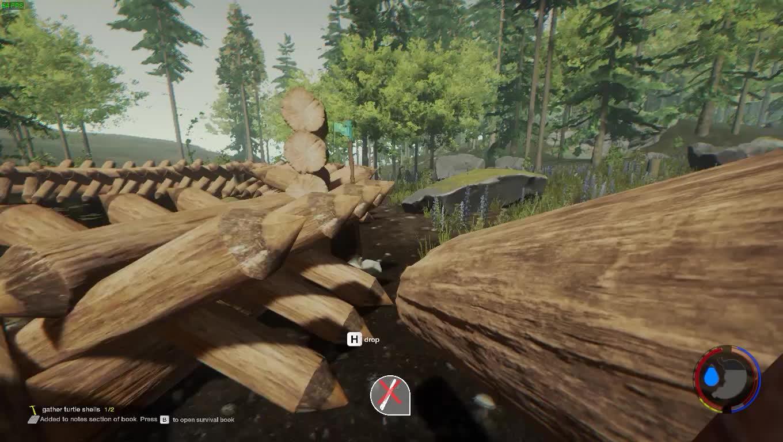 TheForest, glitch, log,  GIFs