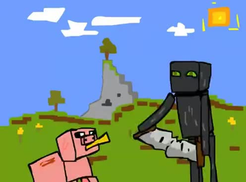 Enderman Firenderman Pizza Minecraft Gifs Search Search Share On