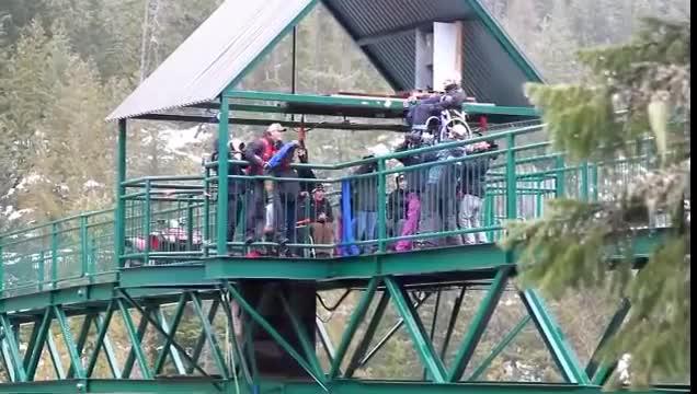Watch Blonde Paraplegic Girl Thrown Over Bridge GIF on Gfycat. Discover more blonde, paraplegic, videos GIFs on Gfycat