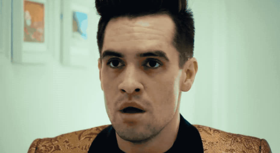 I, anxious, breath, deep, disco, dummy, exhale, face, hey, it, look, ma, made, panic, panic!, phew, puppet, stress, the, wash, Panic! at the disco - Hey look ma I made it GIFs
