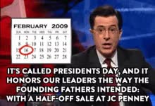Watch and share Stephen Colbert GIFs and Presidents Day GIFs on Gfycat