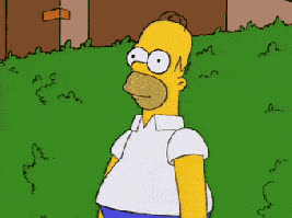 homer, sinking, hiding, thesimpsons GIFs