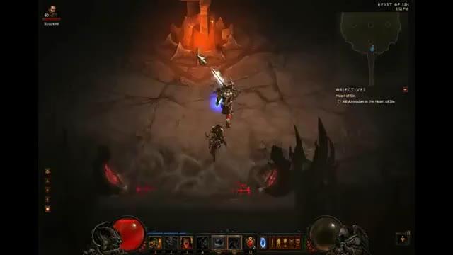 Diablo 3 - Barbarian killing Azmodan in 1 01 (Inferno, Double
