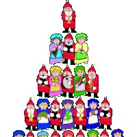 Watch and share People Christmas Tree With Santa Claus' - Animated animated stickers on Gfycat
