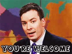 Jimmy Fallon, you'rewelcome, yw, you're welcome GIFs