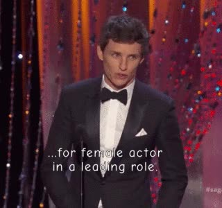 Watch and share Eddie Presented The Leading Actress Award To Brie Larson (x) GIFs on Gfycat