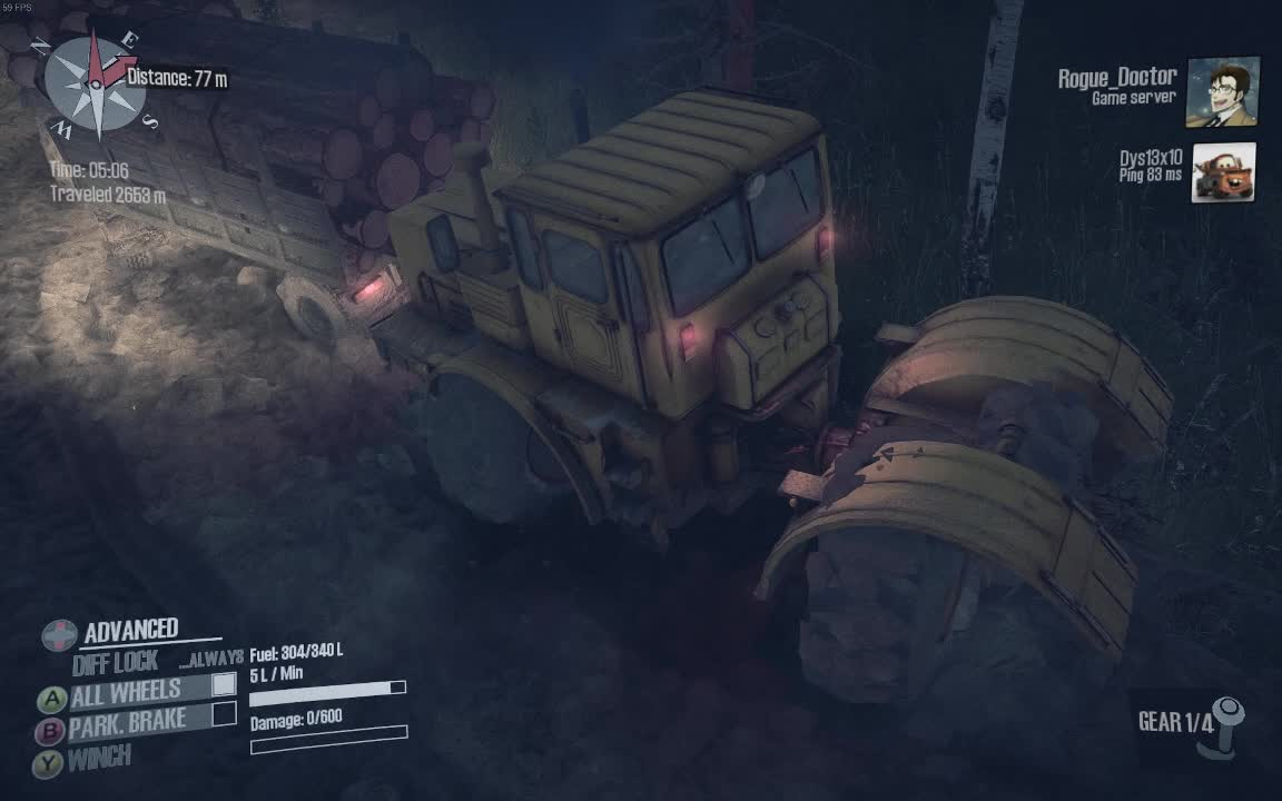SpinTires, broken game, gaming, Well, thar's yer problem GIFs