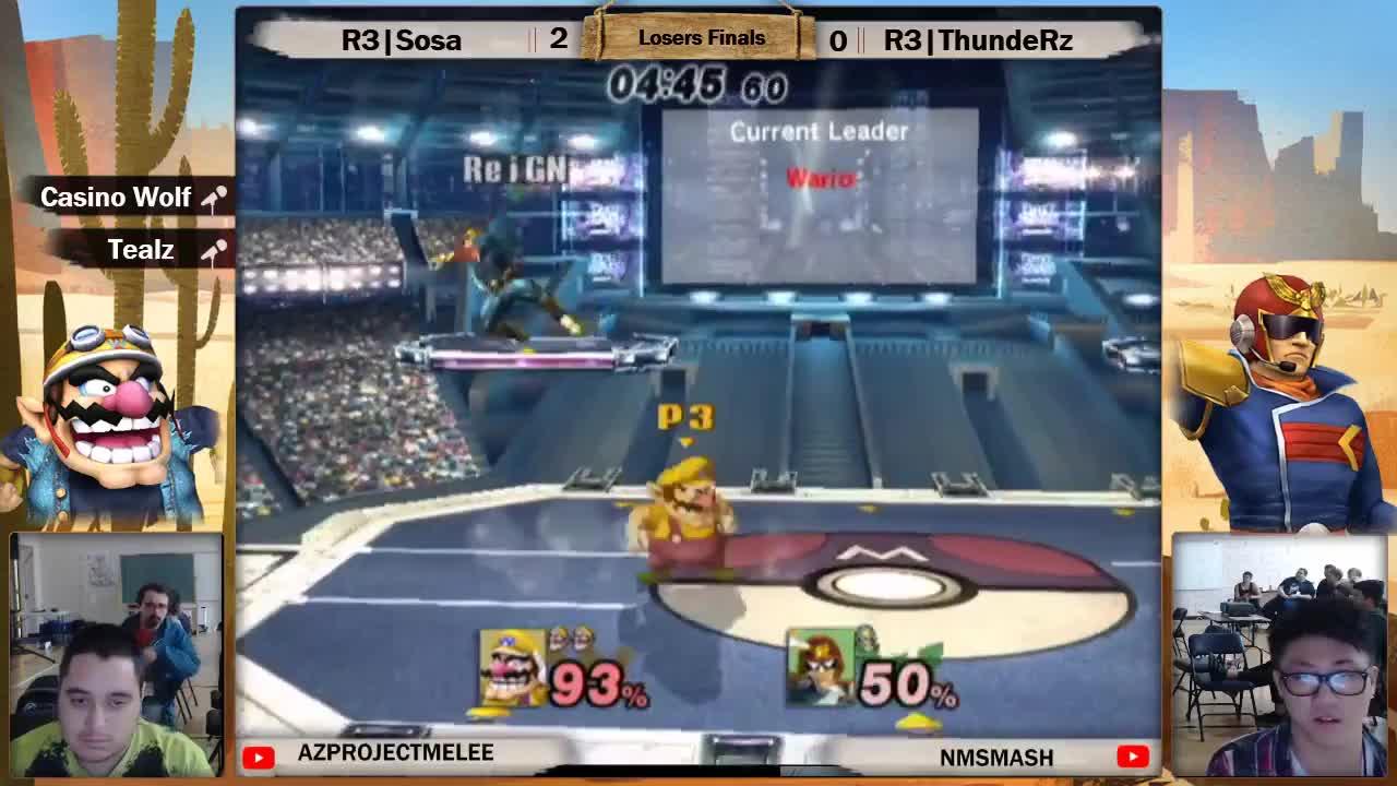 ssbpm, Salty Juans 4 Losers Finals: R3|ThundeRzReiGN (DK,Falcon) vs R3|Sosa (Wario) GIFs