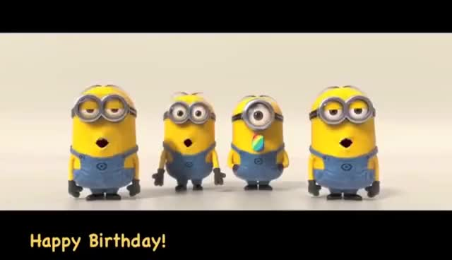 Watch and share Birthday GIFs and Minions GIFs on Gfycat