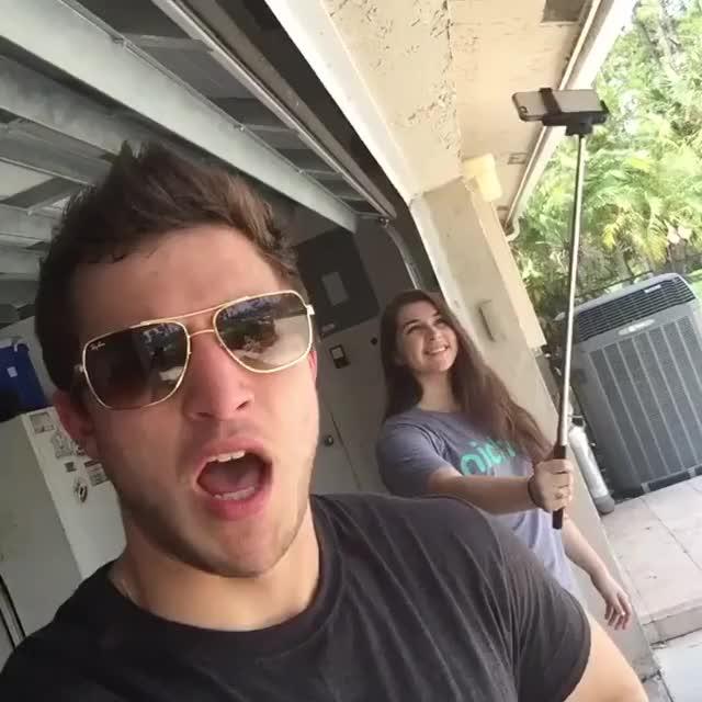 Watch and share Selfie Stick. (W/ Raquel Ayala) GIFs by dija96 on Gfycat