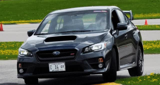 Watch and share Track Test Review – 2015 Subaru WRX STI Is Brilliantly Fast, Grippy And Fun On Autocross GIFs on Gfycat