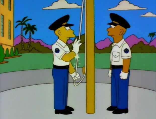 thesimpsons, Proper flag disposal (GIF) (reddit) GIFs