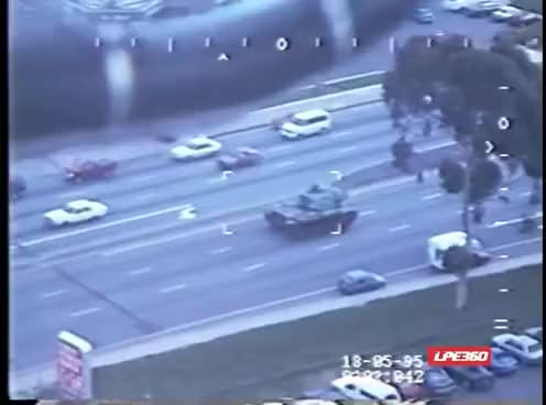 Watch and share Stolen Tank  Police Pursuit - Raw Footage, May 17, 1995 GIFs on Gfycat