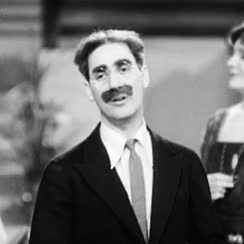 Watch and share @темы: The Marx Brothers,  Margaret Irving,  Margaret Dumont,  Groucho Marx,  GIF,  Animal Crackers,  1930s,  Victor Heerman GIFs on Gfycat