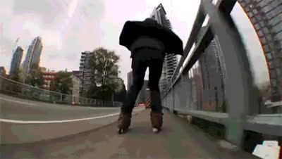 Grinding on Roller-Blades : woahdude GIFs