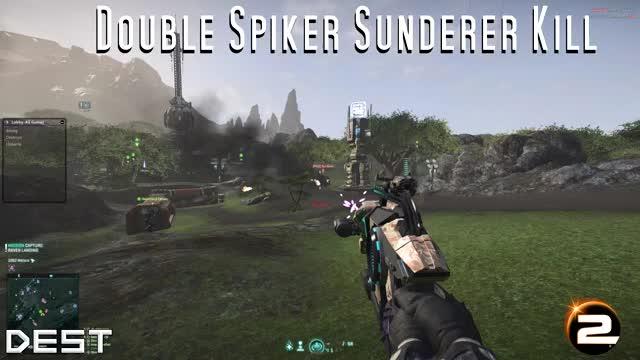 Watch Double Spiker Sunderer Kill   Praise Vanu! GIF by @destroyn on Gfycat. Discover more Planetside 2, Spiker, Sunderer GIFs on Gfycat