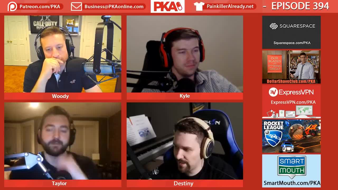 PKA, already, blog, commentary, diy, inspiration, motivation, painkiller, podcast, vlog, woodysgamertag, Kyles reaction GIFs