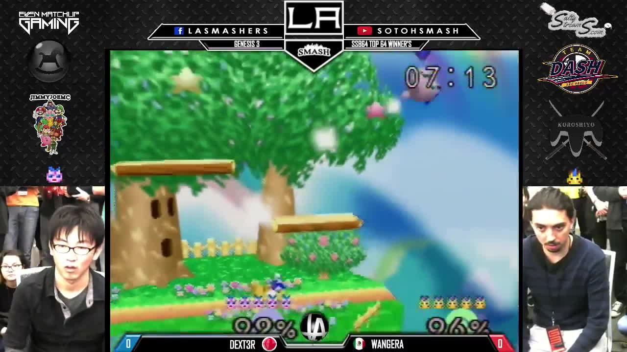 smash of ages, super smash bros, team las, Genesis 3 - R2 Pools WR2 - Dext3r v Wangera - SSB64 GIFs