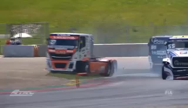Watch The 2nd day of truck racing at FIA ETRC Round 1 at Red Bull Ring GIF on Gfycat. Discover more related GIFs on Gfycat
