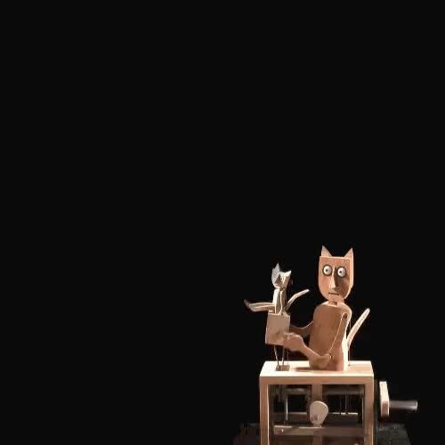 Watch Barecats GIF on Gfycat. Discover more Cabaret Mechanical Theatre, automata, automaton, gif GIFs on Gfycat