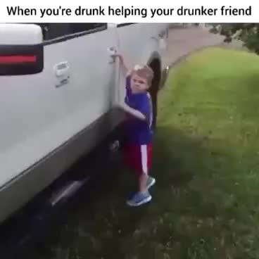 Watch When you're drunk and helping your drunker friend out the car. GIF on Gfycat. Discover more related GIFs on Gfycat