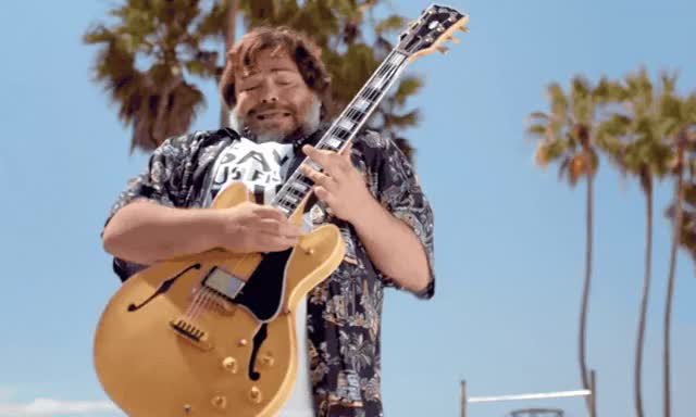 Watch this jack black GIF by GIF Queen (@ioanna) on Gfycat. Discover more angeles, beach, black, california, crazy, gorillaz, guitar, hell, humility, jack, la, los, mania, maniac, passion, rock, rockstar, venice, yay, yeah GIFs on Gfycat