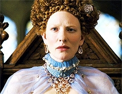 bethwoodvilles gifs, cate blanchett, cblanchettedit, celebs, elizabeth i, elizabeth the golden age, period drama meme, perioddramaedit, PERIOD DRAMA MEME:four quotes -