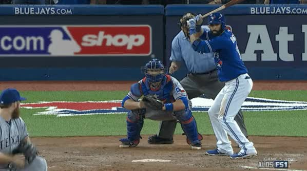 Watch Bautista Bomb GIF on Gfycat. Discover more Torontobluejays, baseball, bootroom GIFs on Gfycat
