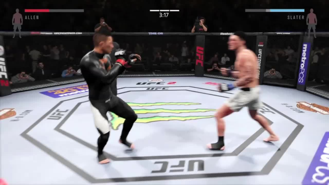 easportsufc, Two Quick Knockdowns GIFs