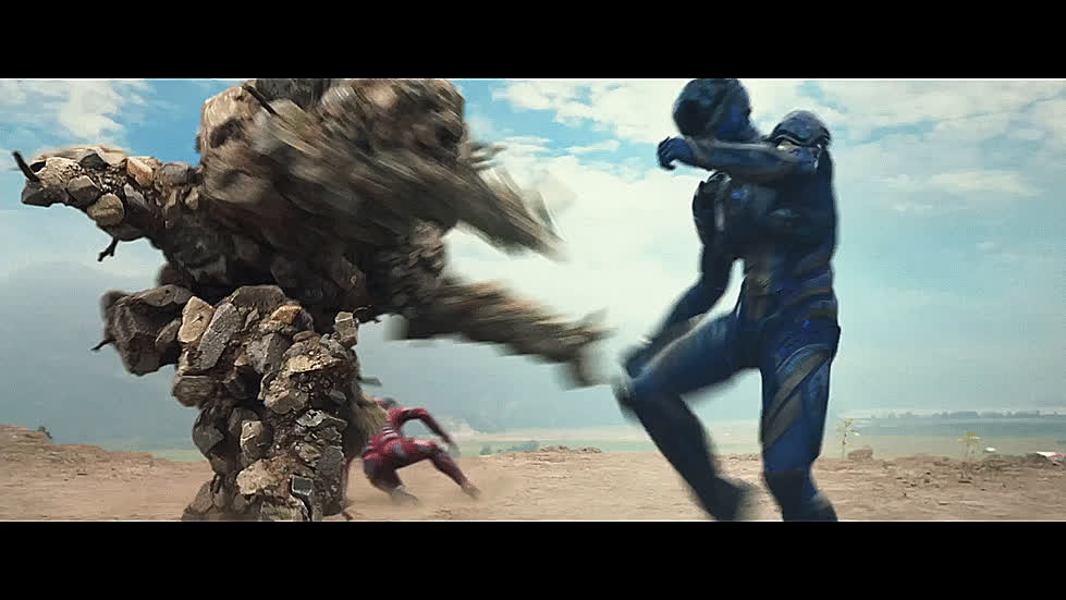 anger, angry, blue ranger, do not want, fight, fighting, gtfo, kick, kicking, movie, power rangers,  GIFs