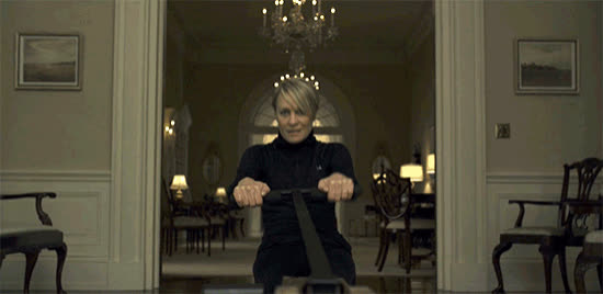 celebs, exercise, house of cards, robin wright, work out,  GIFs